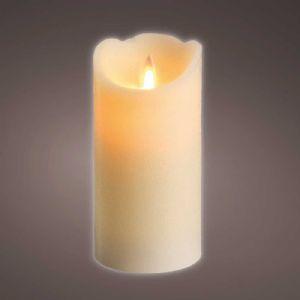 Bougie LED ondulante crème H15cm