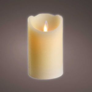 Bougie LED ondulante crème H12.5cm
