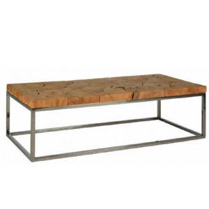 TABLE BASSE INOX/TECK