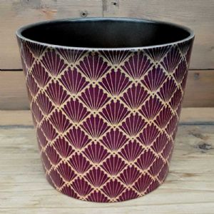 Cache Pot Rouge/ Or