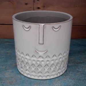 Cache Pot Céramique Blanc