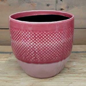 Cache Pot Filet Rose ⌀ 13 cm