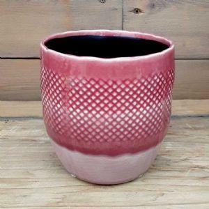 Cache Pot Filet Rose ⌀ 11 cm